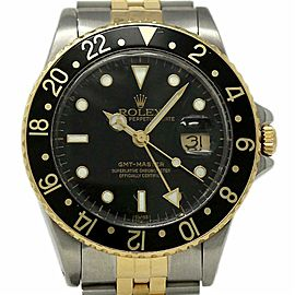 Rolex GMT Master 16753 Steel Yellow Gold Black 1984