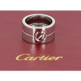 Cartier 18K White Gold High Love Ring Size 50 11mm