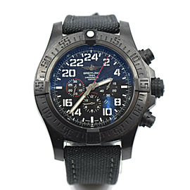 Breitling Super Avenger Military Chronograph Blacksteel Watch M22330