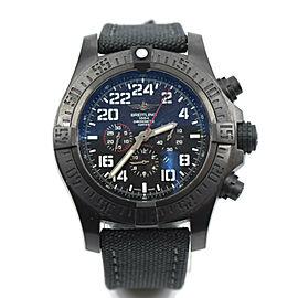 Breitling Super Avenger Military Chronograph Blacksteel Watch M22330
