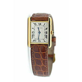 Cartier Tank Solo 18K Yellow Gold Watch