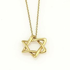 Tiffany & Co. Elsa Peretti Star of David Pendant & Chain 18k Gold Necklace