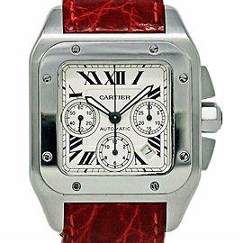 Cartier Santos 100 XL W20090X8 Automatic Chronograph Leather