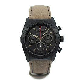 Tudor Fastrider Blackshield Chronograph Black Ceramic Watch 42000CN
