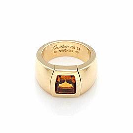 Cartier La Dona Citrine 18k Yellow Gold Band Ring Size 51 US 5.5 w/Paper