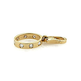 Cartier Love Diamond 18k Yellow Gold Mini Oval Charm
