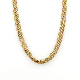 """Tiffany & Co. Peretti 18k Yellow Gold 6mm Wide Mesh Chain Necklace 26"""" Long"""