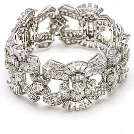 20.00 Carat Platinum Diamond Art Deco Bracelet