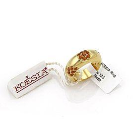 Koesia 0.92ct Citrine Gems 18k Yellow Gold Ring