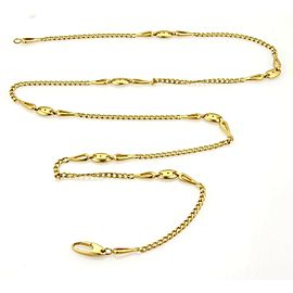 """A. Maffucci Signed 18k Yellow Gold Curb Chain Link Necklace 32"""" Long"""