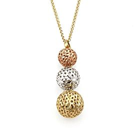Graduated Mesh Ball Pendant in 18k Tri-Color Gold