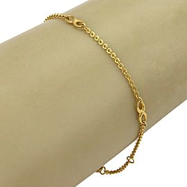"Infinity Design 21k Gold Chain Anklet 10"" long"