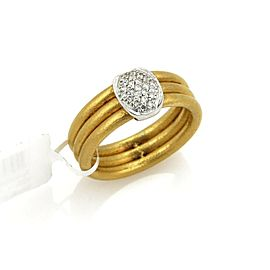 Gurhan HORIZON Diamond 24k Gold & 18k White Gold 3 Stack Ring $3,550