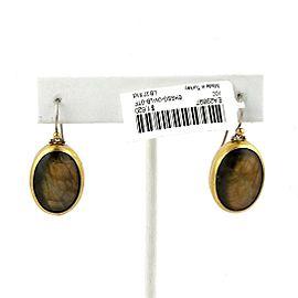 Gurhan Galapagos Tiger's Eye Sterling & 24k Gold Dangle Earrings