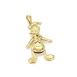 Disney Animated Donald Duck 18k Yellow Gold Charm