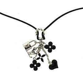 Louis Vuitton Sweet Monogram Black Pendant Choker Necklace