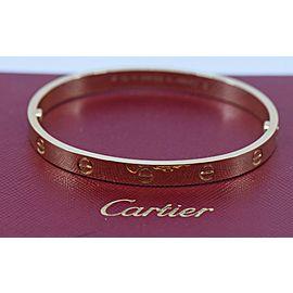 Cartier 18K Yellow Gold Love Bracelet,Size 18