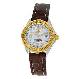 Breitling Starliner D67365 Steel Gold MOP Quartz 31MM Watch