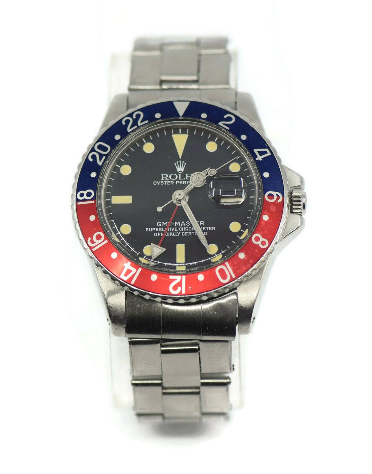 Rolex GMT,Master Pepsi Stainless Steel Watch 1675