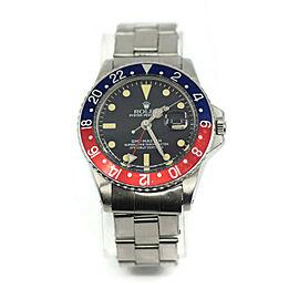 Rolex GMT-Master Pepsi Stainless Steel Watch 1675