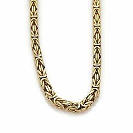 Byzantine Box Link 5mm 14k Yellow Gold Chain