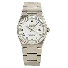 Rolex Datejust 17000 Mens Quartz Vintage Watch White Dial SS 36mm