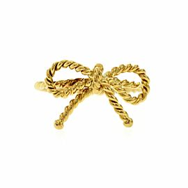 Tiffany & Co 18K Yellow Gold Bow Twist Wire Ring Size 5.5