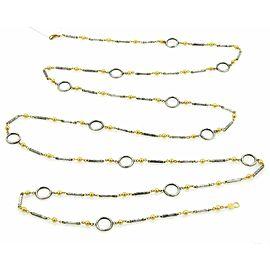 Gurhan Cirque 24k Gold & Sterling Hammered Tube & Circle Necklace
