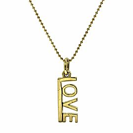 Tiffany & Co 18K Yellow Gold Love Necklace Size 16""