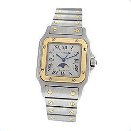 Cartier Santos Galbee 119901 18K Gold Moonphase Quartz 29MM Unisex Watch