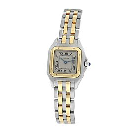 Cartier Panthere 112000R Steel 18K Yellow Gold Two Row 22MM Quartz Watch