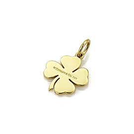 Tiffany & Co. Four Leaf Clover 18k Yellow Gold Charm Pendant