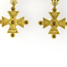 Kieselstein-Cord 18k Yellow Gold Cross Dangle Earrings