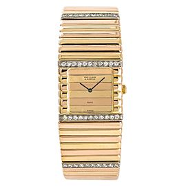 Van Cleef & Arpels Womens Quartz Tricolor 18K 99.5 Gram Gold Watch 2.28CT