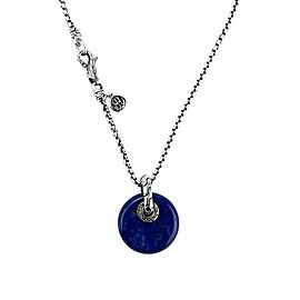 JOHN HARDY STERLING SILVER CLASSIC CHAIN LAPIS LAZULI DISC NECKLACE