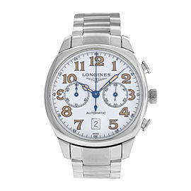 Men's Longines Spirit Chronograph L2.705.4.232 Date Steel 41MM Automatic Watch