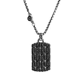 JOHN HARDY STERLING SILVER CLASSIC CHAIN BLACK SAPPHIRE NECKLACE 26""