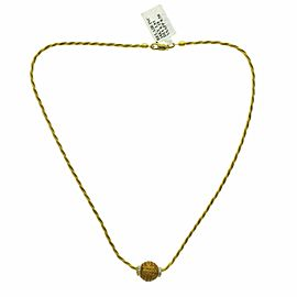 """Invisible Set 8.50 Yellow Sapphire 0.18 CT Diamonds 14K Yellow Gold Necklace 16"""""""