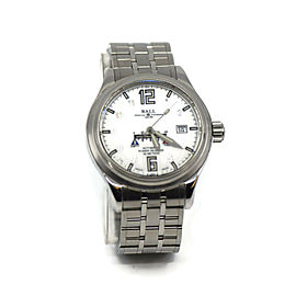 Ball Trainmaster Power Reserve Stainless Steel Watch NM1056D