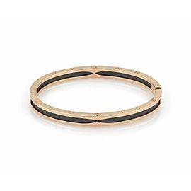 Bvlgari B.zero1 Black Ceramic & 18k Pink Gold Bangle Bracelet w/Cert