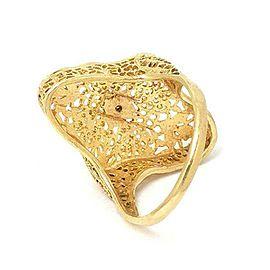 Diamond Filigree 14k Yellow Gold Ring