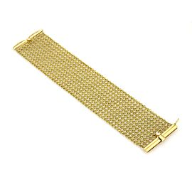 Judith Ripka Diamonds 18k Yellow Gold 40mm Wide Mesh Flex Bracelet