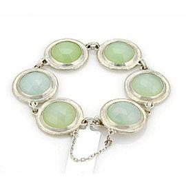 Gurhan GUMDROP Sterling Silver 6 Aqua Chalcedony Round Link Bracelet