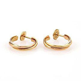 Cartier Trinity De Cartier 18k Tri Color Gold Hoop Earrings