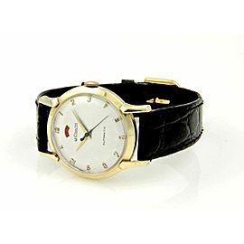 Vintage Le Coultre Vintage 14k Yellow Gold Case 30mm Automatic Men's Wrist Watch