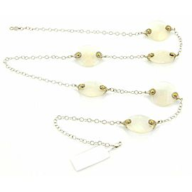 Gurhan NOKTA DISCUS Diamonds & White Quartz Sterling & 24k Gold Necklace