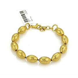 Gurhan Cocoon 24k Gold Hand Hammered Beaded Bracelet Rt. $10,200