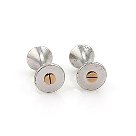 Cartier Diabolo de Cartier Sterling & 18k Rose Gold Screw Motifs Cufflinks