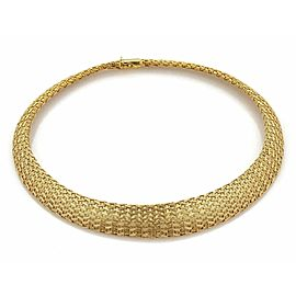 Estate Roberto Coin 18k Yellow Gold Woven Silk Graduated Collar Necklace