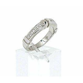 Di Modolo 18k White Gold & Diamonds 4mm Wide Band Ring Size 6.75